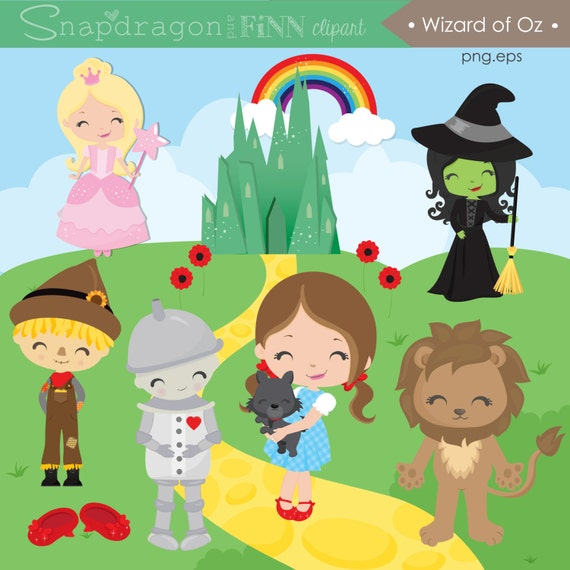 Wizard of Oz Clipart Fairytale clipart cute Oz clipart red