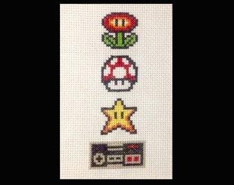FRAMED Super Mario Cross Stitch