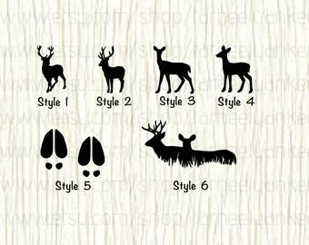 Deer Car Decal, Deer Decal, Doe Car Decal, Doe Decal, Hooves Decal, Deer Print Decal, Deer Hunting Decal, Deer Season, Hunting Decal