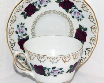 Colclough Teacup Saucer 8249  - 251