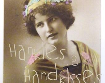 Poet card, Edwardian Era.  1910