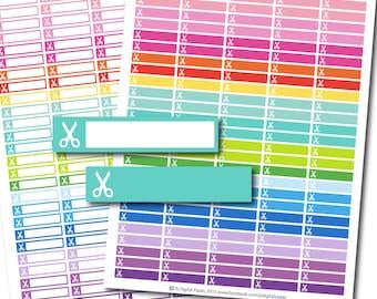 Scissors stickers, Scissors planner stickers, Scissors printable stickers, Hair Cut stickers, Beauty stickers, Haircut sticker, STI-157