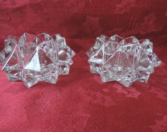 Crystal Candle Holders Vintage