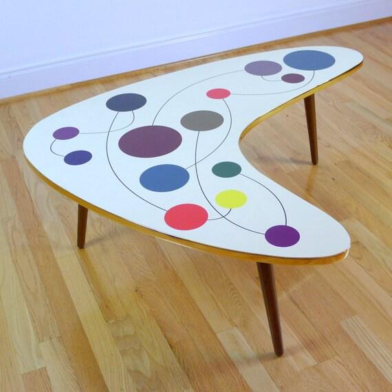 Items Similar To Handmade Boomerang Coffee Table, Ballons