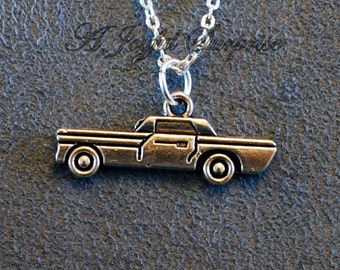 Car Necklace for Man, Men's Jewelry, Car Lover's Gift, Police Car Auto Boy Christmas present Birthday Gift Cop Vehicle Transportation 148