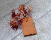 Fair Trade Orange Leather Luggage Tag Orange Luggage Tag Orange Leather Luggage Tag Orange Leather Bag Tag Real Leather Luggage Tag