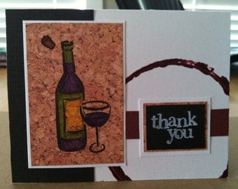 Wine Themed Thank You Card