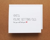 Funny birthday card, Birthday card for Her, Best friend Birthday card, Birthday card for him, Sarcastic birthday card, Birthday humor card