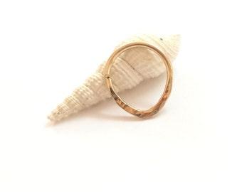 Triangle septum ring, gold septum ring, septum jewelry ring, septum piercing ring, tiny septum ring, nose septum ring, tribal septum ring