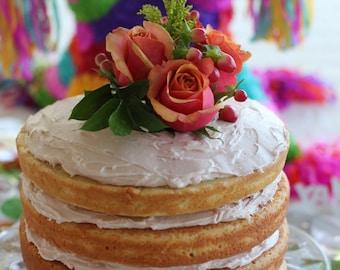 Triple Layered Naked Cake