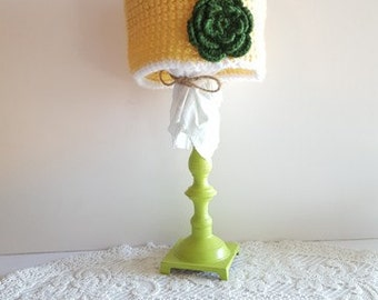 Vintage Duck Fan Crochet Hat - Newborn, Baby, Child's, Photography Prop, Girl, Rose, Garden, Bonnet, Green, Yellow