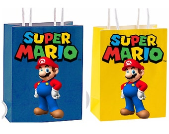 Super Mario Party Favor Bag Printable Instant Download