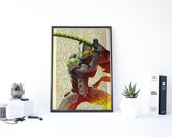 Overwatch Genji, Overwatch Art, Overwatch Poster, Genji Overwatch, Video Game Art, Video Game Posters, Posters and Prints, Book Art Print
