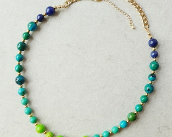 Tropical Summer Gradient Collar Necklace