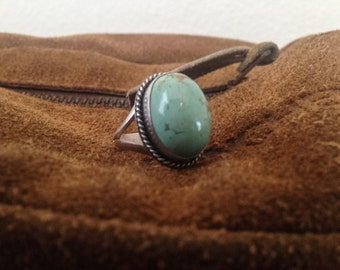 Green Turquoise Ring {sz.7.5}