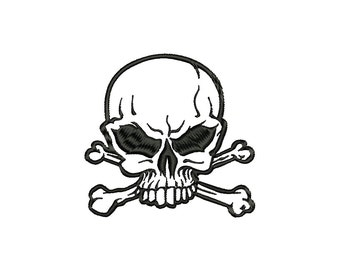 SKULL - machine embroidery design - Instant Download