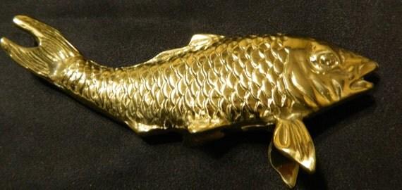 Brass carpbrass fish statuehome decorantique brass for Decorative carp