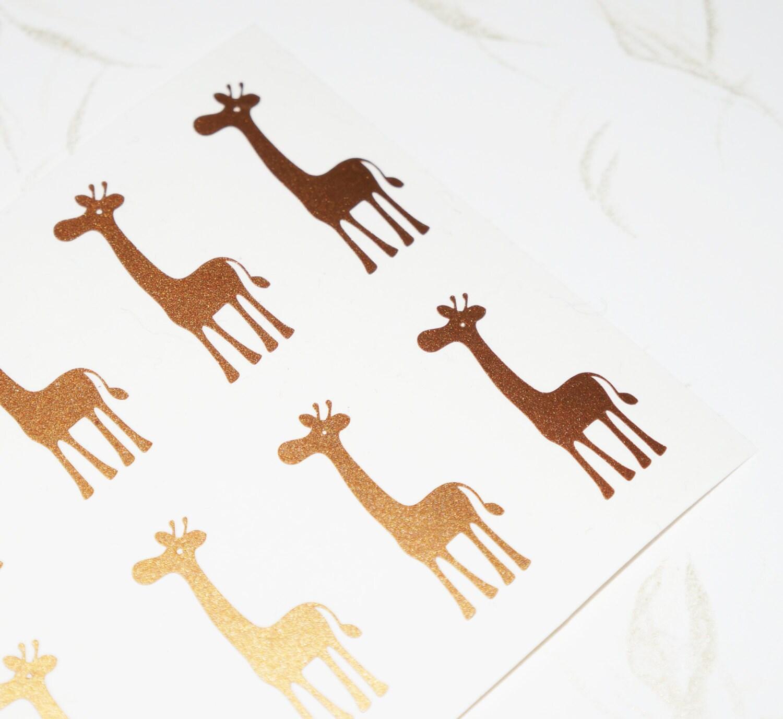 40 giraffe stickers giraffe wall decal animal stickers giraffe sold by cutoutarts