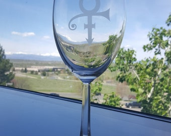 Prince Wine Glass / Artist, Musician / Rock, Soul, Funk/ Red Wine Goblet/ Cup / Chalice
