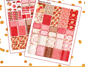 50%off Floral Printable Planner Stickers | Instant Download | Pdf and Jpg Format