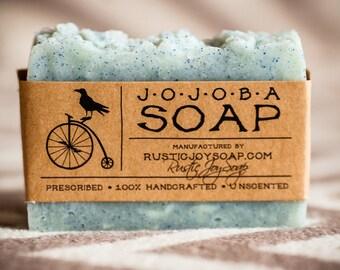 Jojoba Soap -Rustic Soap, All Natural Soap, Handmade Soap, Jojoba Soap, Homemade Soap, Unscented Soap, Peeling soap