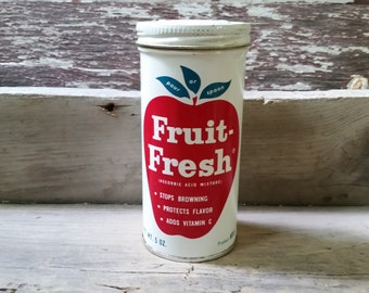 Fruit fresh tin vintage, kitchen tin, vintage tin