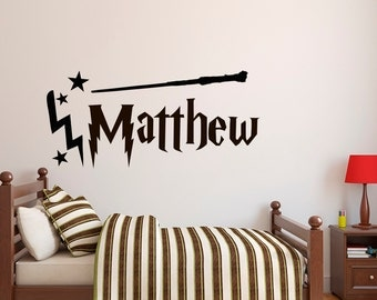 Basketball Name Wall Decal Boy Basketball Personalized Decal - Wall decals harry potter