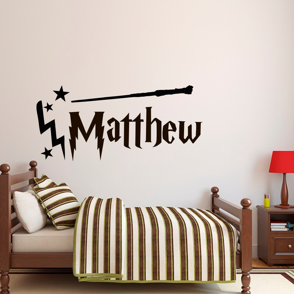 personalized name wall decal boy name wall decal harry. Black Bedroom Furniture Sets. Home Design Ideas