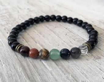 LEO Zodiac Chakra Balancing Bracelet, Black Tourmaline Chakra Bracelet, Yoga,  Meditation Energy, Chakra Zociac Jewelry,