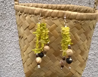 Natural material earrings