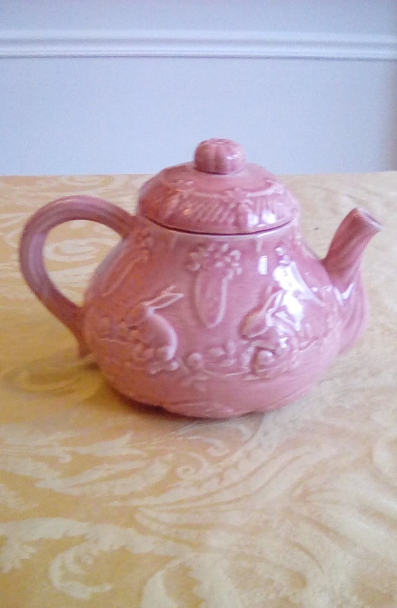 Bordallo pinheiro pink bunny rabbit teapot made in portugal - Bordallo pinheiro portugal ...
