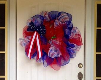 Yankee Doodle Dandy Decomesh Wreath