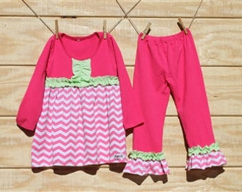 Charlotte - Ruffled Pant Set for girls