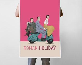 Roman Holiday Movie - Audrey Hepburn Art Print Poster - Multiple Sizes