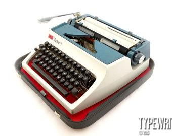 Red White & Blue. ERIKA 42 1976, Erika typewriter, vintage typewriter, manual typewriter, working typewriter.