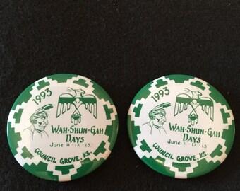 Vintage Pow Wow button