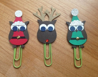 Christmas Paperclip Bookmarks