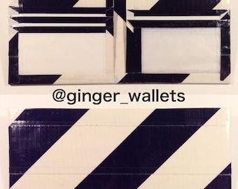 Black & White Striped Duct Tape Bi-Fold Wallet