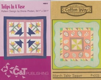 Four (4) Traditional Patterns - Wall Hanging - Table topper & Quilts - Older Patterns!!