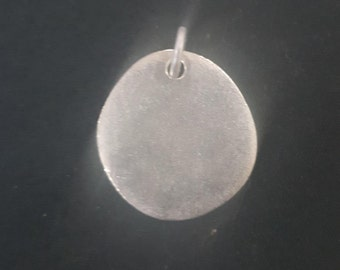 19mm Riverstone Pewter ID Tag