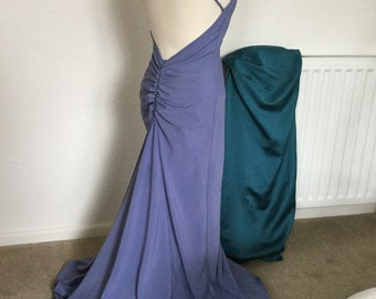 Evening Gown, Periwinkle Blue