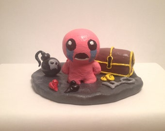 The Binding of Isaac Acrylic Painted Sculpture - Isaac - Bomb - Hearts - Coins - Chest - Key
