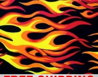 """Fleece Fabric Fire Flames Style 20200 60"""" Wide Free Shipping"""