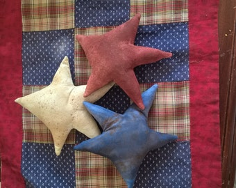primitive americana star ornies bowl fillers tucks