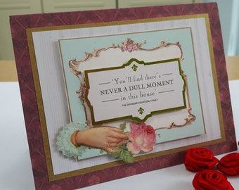 Beautiful Downton Abbey Vintage Greetings Card