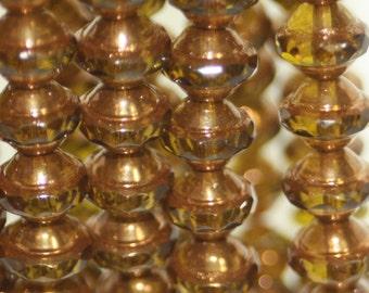 Czech Glass Saturn Beads 8x10mm
