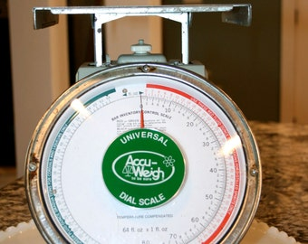 Universal Accu-Weigh Dial Scale//Bar Inventory Control Scale//Temperature Compensated//Vintage Scales