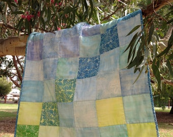 Blue Green Flowering Gum Hopscotch Quilt
