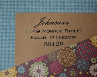 Personalized Return Address Stamp Self Inking
