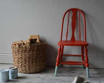 Vintage Wooden Chair Restored Finished paint dipped